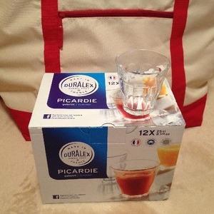 DURALEX 12pc Picardie 強化ガラス製グラス 12セット