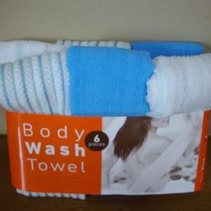 マーナ Body Wash Towel 6 Pieces (ボディ ウオッシュ タオル)