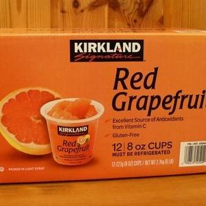 カークランド レッドグレープフルーツ シロップ漬け