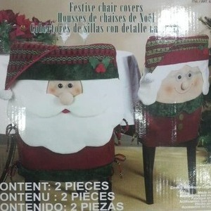 Festive chair covers 2PIECES サンタクロースのチェアカバー2枚セット