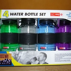 4 WATER  BOTTLE SET