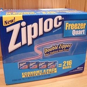 ジップロック(Ziploc) フリーザークオート
