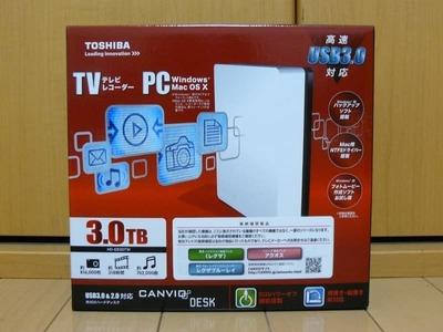 東芝 外付けハードディスク CANVIO DESK HD-EB30T