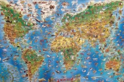 (名無し)さん[6]が投稿したround world map 世界地図(輸入)の写真