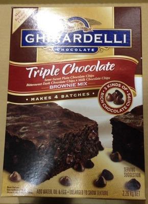 (名無し)さん[2]が投稿したGHIRARDELLI(ギラデリ)  トリプルチョコレート ブラウニーミックスの写真