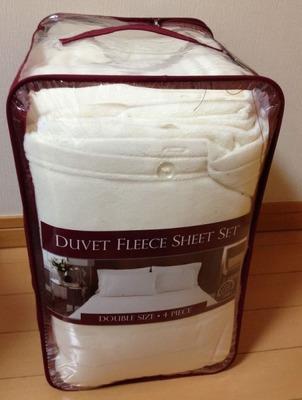 NEMCOR 日本ダブルサイズ DUVET FLEECE SHEET SET フリースベッドカバー4点セット