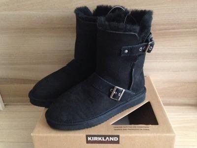 カークランド  レディース ショートバックル ブーツ (shearling buckle boot)