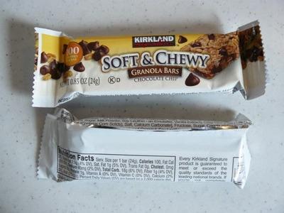 (名無し)さん[5]が投稿したカークランド ソフト&チューイ グラノーラバー(チョコレートチップ入り)の写真