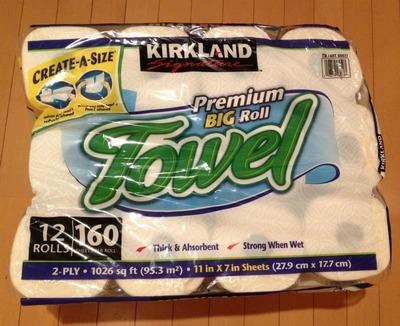 (名無し)さん[3]が投稿したカークランド プレミアムビッグロールペーパータオル(キッチンペーパー)の写真