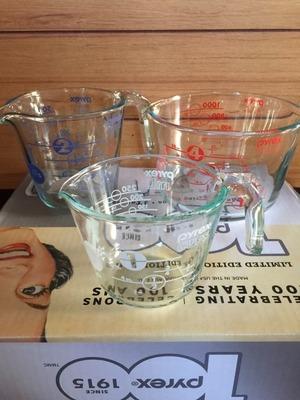 PYREX メジャーカップ 強化ガラス 3個セット