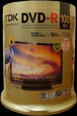TDK DVD-R 録画用 100枚入り