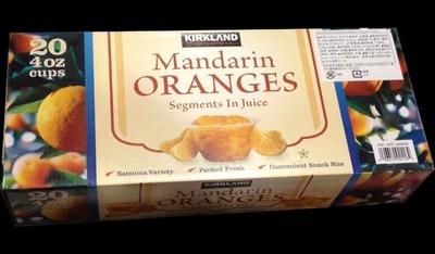 カークランド マンダリンオレンジ みかん シラップづけ(ライト)