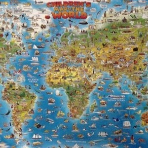 round world map 世界地図(輸入)