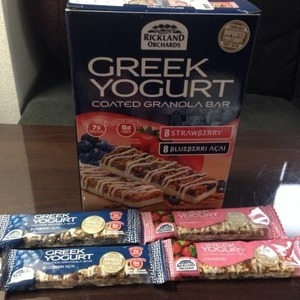 RICKLAND ORCHARDS  グリーク ヨーグルト グラノーラバー GREEK YOGURT COATED GRANOLA BAR