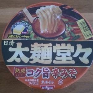 日清食品 太麺堂々 熟成コク旨辛みそ