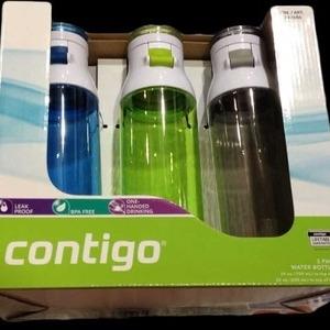 Contigo 水筒 3本セット Water Bottles 3-Pack
