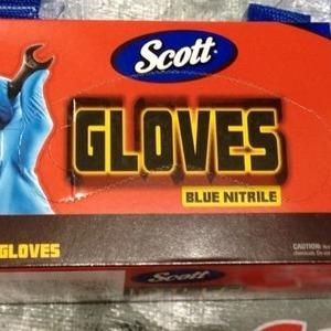SCOTT ブルーニトリル手袋