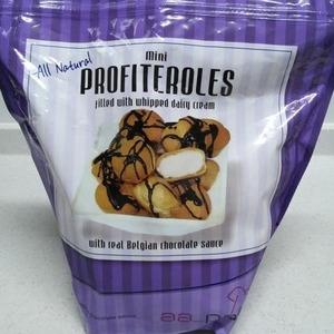 Mini Profiteroles クリームパフ チョコレートシロップ付き