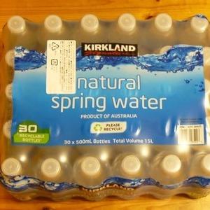 カークランド  ナチュラルスプリングウォーター natural spring water 500ML×30本