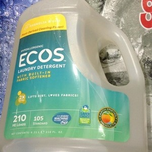 Earth Friendly Products ECOS 液体洗濯洗剤 柔軟剤入り Magnolia and Lily