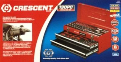 CRESCENT メカニックツールセット 130PC 専用ケース付き