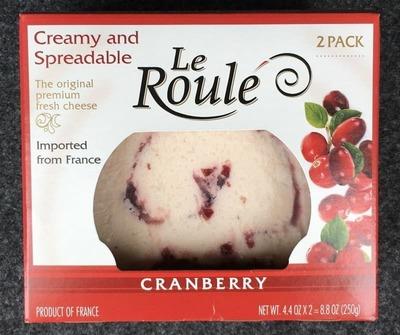 ル・ルレ クランベリー フレッシュチーズ Le Roule CRANBERRY
