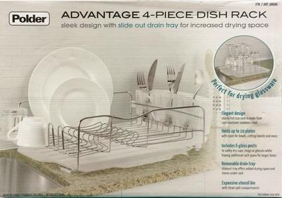 Polder トレイ付き ディッシュラック ADVANTAGE 4-PIECE DISH RACK