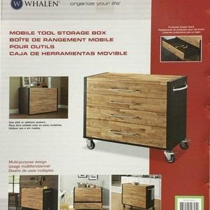 WHALEN ウッド/スチール製ローリングキャビネット
