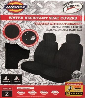 DICKIES SCOTCHGARD MCKENZIE 車用シートカバー 2枚セット