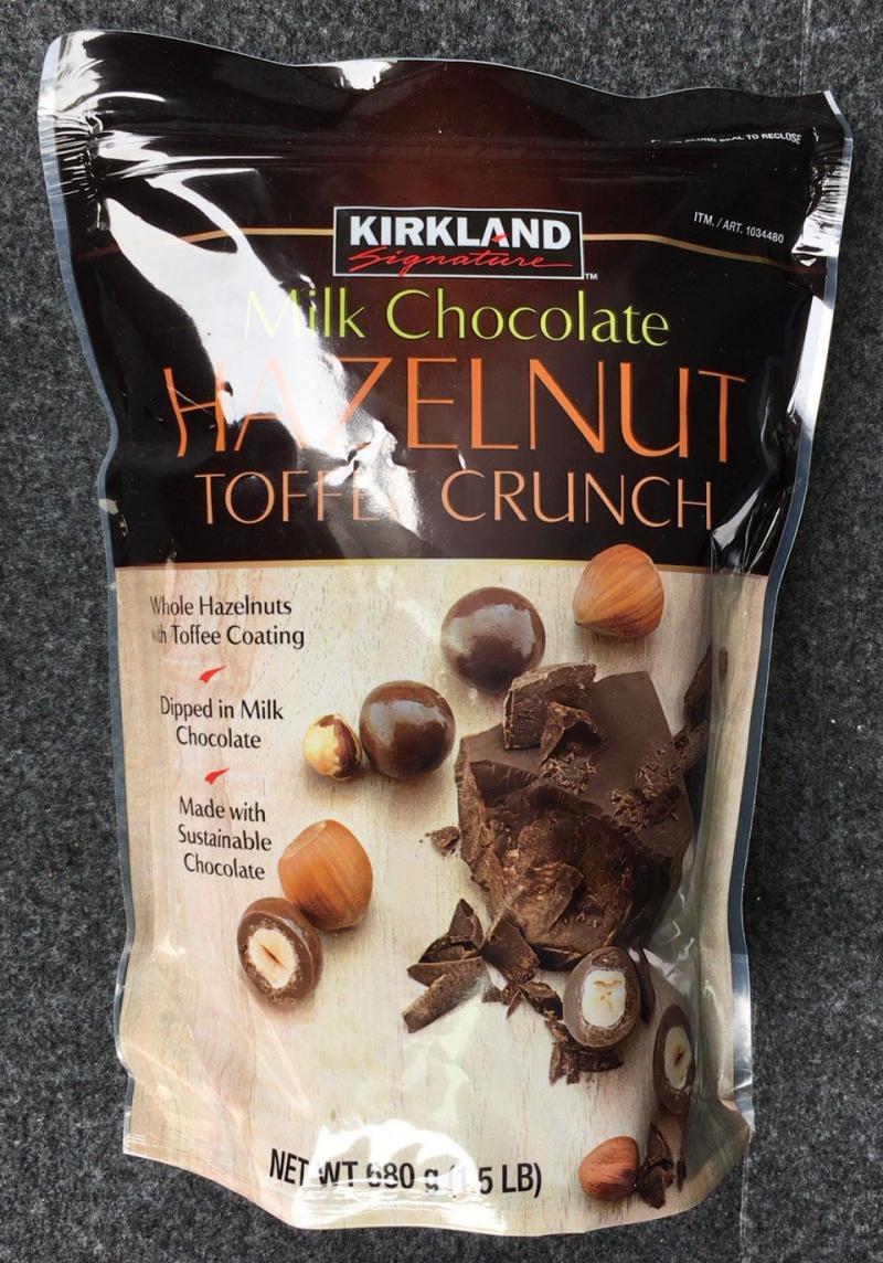 [2]が投稿したカークランド ヘーゼルナッツ トフィ クランチ ミルクチョコレートの写真