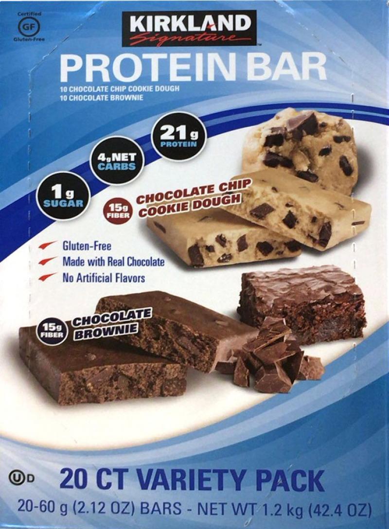 [2]が投稿したカークランド プロテインバー チョコブラウニー/チョコチップクッキーの写真