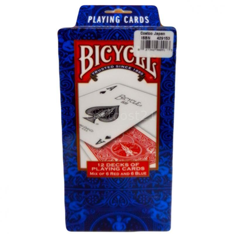 ポンチさん[1]が投稿したBICYCLE バイスクルトランプ スタンダード 12個セット(赤・青 各6個)の写真