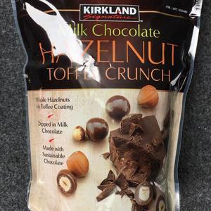 カークランド ヘーゼルナッツ トフィ クランチ ミルクチョコレート