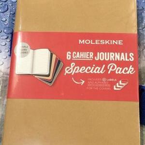 Moleskine モレスキン カイエ ジャーナル XL 横掛線ノート 6冊セット