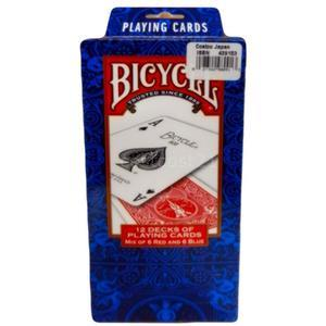 BICYCLE バイスクルトランプ スタンダード 12個セット(赤・青 各6個)