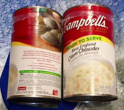 キャンベル クラムチャウダー スープ