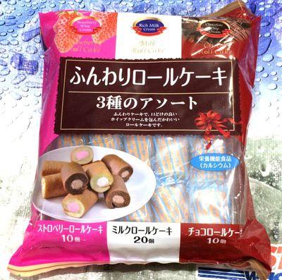 (名無し)さん[2]が投稿した山内製菓 ふんわりロールケーキ3種アソートの写真