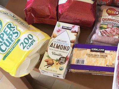 カークランド アーモンドミルク バニラ味