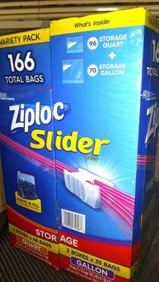 ジップロック(Ziploc) スライダーバッグ バラエティーパック Slider bags variety pack 166