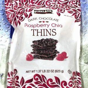 カークランド ラズベリー&チアシード ダークチョコレート