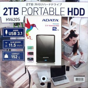 ADATA ポータブル外付けHDD 2TB HV620S
