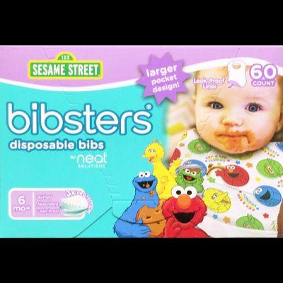 Bibsters Disposable Bibs セサミストリート ビブスター 紙スタイ よだれかけ 60枚