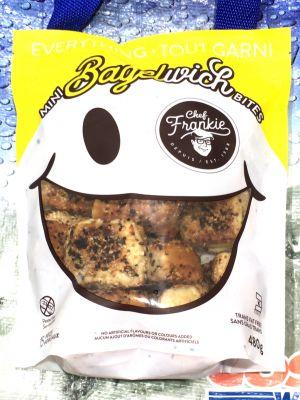 Chef Frankie シェフフランキー ミニベーグルウィッチバイツ(ブラックペッパーガーリックブレッド)