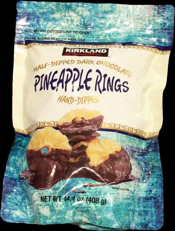 [1]が投稿したカークランド ハーフディップ ダークチョコレート パイナップルリングの写真