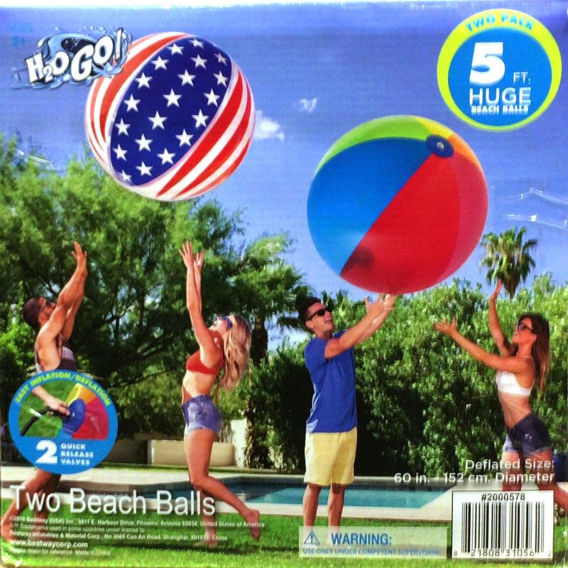 [1]が投稿したBESTWAY H2OGO! ビーチボール2個セットの写真