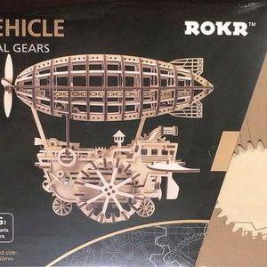 ROBOTIME 3D木製パズル 機関車/トラクター/飛行船