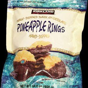 カークランド ハーフディップ ダークチョコレート パイナップルリング