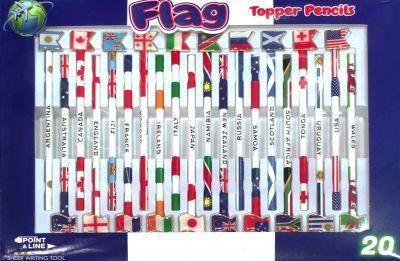 国旗付き鉛筆2B