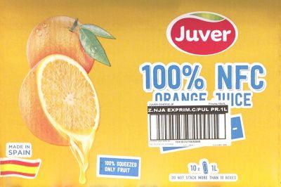 JUVER ジュベル 100%ストレートオレンジジュース