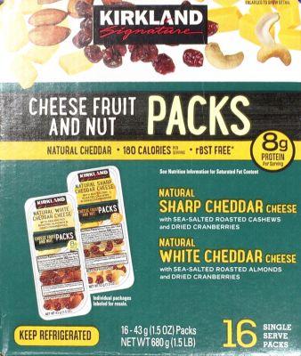 カークランド チーズ/フルーツ/ナッツ スナックパック
